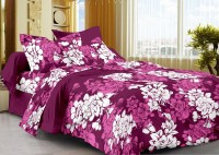La Fluer Cotton Floral Double Bedsheet (1 Bedsheet, 2 Pillow Covers)