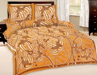 Fab Rajasthan Unique Arts Cotton Abstract Queen Sized Double Bedsheet 1 Bedsheet With 2 Pollow Covers, Multicolor