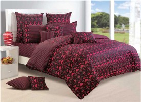 Swayam Abstract Double Quilts & Comforters Black