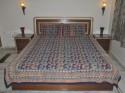 Lal Haveli Block Print Double Bed Flat Double Bedsheet - BDSDTYUDPKMN7FP4