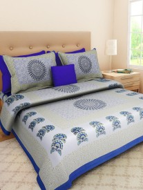 Divy Collection Cotton Printed Double Bedsheet