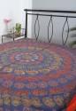Rajrang Paisley Embroidered Flat Double Bedsheet