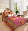 Home Candy Attractive Flowers Cotton Collection Flat Double Bedsheet
