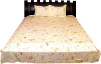 Nathi And Nancy Cotton Floral Double Bedsheet 1 Bed Sheet & 2 Pillow Covers, Multicolor - BDSEK7HZUUH34GEW