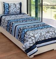 Supreme Home Collective Cotton Printed Single Bedsheet Set Of 1 Cotton Single Bedsheet With 1 Pillow Cover, Blue