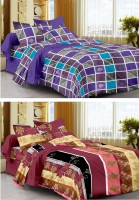 Story @ Home Cotton Printed Single Bedsheet Set Of 2 Single Bedsheet With 2 Pillow Cover, Multicolour