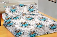 Snuggles Cotton Floral Double Bedsheet (Bedsheet, Two Pillow Covers) - BDSE2PE4VVHZBGNG