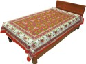 Shop Rajasthan 100% Cotton Traditional Animal Print Bed Spread Flat Single Bedsheet