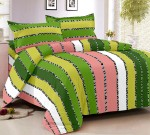 Story@Home Cotton Striped Double Bedsheet