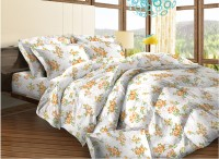 Bombay Dyeing Cotton Floral Double Bedsheet (1 Double Bedsheet, 2 Pillow Covers)
