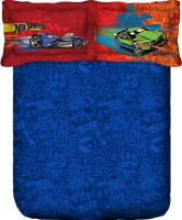 Portico New York Cotton Abstract King Bedsheet (1 Double Bed Linen (90 X 108 Inch 229 X 274cm)+2 Pillow Cover -18 X 27 Inch, Blue)