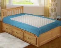 SHOP JAIPURI Cotton Paisley Single Bedsheet 1 Bedsheet, Blue, Aqua Blue, Cream, Grey