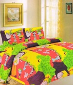 K Decor K Decor Polyester Printed Double Bedsheet