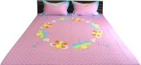Aiva Little Pipal Circle Of Love Kids Flat Double Bedsheet