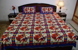 Vivid Rajasthan Cotton Printed Double Bedsheet