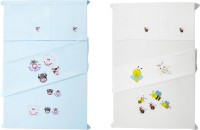 Baby Rap Cotton Embroidered Standard Crib Bedsheet (4 Bed Sheets, 4 Pillow Covers, Multicolor) - BDSE6G7W6EFDTNHQ