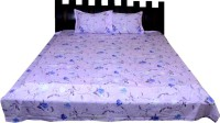 Nathi And Nancy Cotton Floral Double Bedsheet 1 Bed Sheet & 2 Pillow Covers, Multicolor - BDSEK7HVTGEWGNQ2
