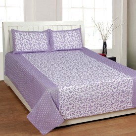Home Fantasy Cotton Floral Double Bedsheet