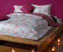Stoa Paris White & Red 300 Thread Count Cotton Printed Flat King Bedsheet