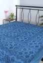 Rajrang Batik Mirror Work Embroidered Flat Double Bedsheet - BDSDUMN8RH73MPKJ
