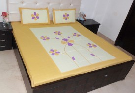 K Gallery Cotton Floral Double Bedsheet