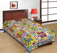 Fab Rajasthan Unique Arts Cotton Printed Single Bedsheet 1 Bedsheet, Multicolor - BDSE7UYQFPXESRQM