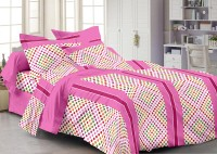 Story @ Home Cotton Printed Double Bedsheet 1 Double Bedsheet With 2 Pillow Cover, Pink