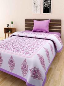SONAL TEXTILES Cotton Printed Single Bedsheet