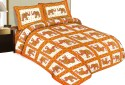 Shop Rajasthan 100% Cotton Traditional Animal Print With 2 Pillows Bedding Set Flat Double Bedsheet
