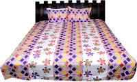 Nathi And Nancy Cotton Floral Double Bedsheet 1 Bed Sheet & 2 Pillow Covers, Multicolor - BDSEK7HTDG6J8UF3