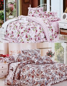 Home Basics Polycotton Floral King sized Double Bedsheet