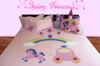 Aiva Little Pipal Castle On The Rainbow Kids Flat Double Bedsheet