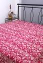 Rajrang Ikat Ikat Print With Kantha Work Flat Double Bedsheet