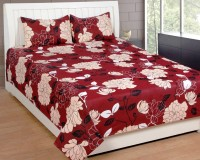 Bed & Bath Cotton Checkered, Paisley, Printed Double Bedsheet 1 Double Bedsheet Only, Blue, Beige, Black