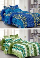 Story @ Home Cotton Printed Double Bedsheet Set Of 2 Double Bedsheet With 4 Pillow Cover, Multicolour