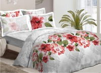Bombay Dyeing Cotton Floral Double Bedsheet (Multicolor)