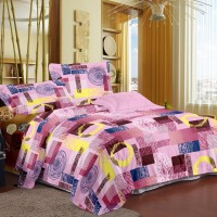Story @ Home Cotton Printed Double Bedsheet (1 Bedsheet, 2 Pillow Cover, Pink)