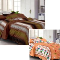 Story @ Home Cotton Printed Single Bedsheet Set Of 2 Double Bedsheet With 2 Pillow Cover, Multicolour