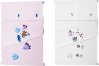 Baby Rap Cotton Embroidered Standard Crib Bedsheet (4 Bed Sheets, 4 Pillow Covers, Multicolor) - BDSE672K3S8QAYBF
