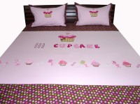 Aiva Little Pipal Cupcake And Candies Kids Flat Double Bedsheet