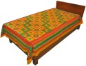 Silkworm Animal Print Jaiprui Sanganeri Print Pure Cotton Bed Sheet Flat Single Bedsheet