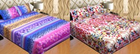 Surhome Polycotton Abstract Double Bedsheet