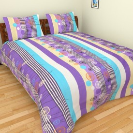 Spangle Cotton Geometric King sized Double Bedsheet