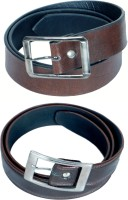 Kvell Be Proud Men Casual Brown Artificial Leather Belt Brown, Brown