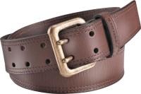 Fastrack Men Casual Brown Metal, Genuine Leather Belt Dark Brown