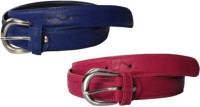 NAGAR ENTERPRISES Girls Casual, Evening, Formal, Party Blue, Pink Artificial Leather Belt BLUE-PINK-22