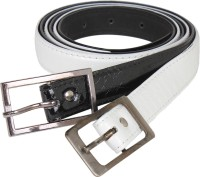 G-MOS Women Casual Black, White Artificial Leather Belt Black09