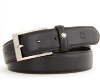Hidea Men Formal Black Genuine Leather Belt Black-02