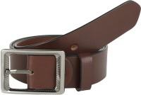 Global Leather Boys, Men, Girls, Women Formal, Casual, Party, Evening Brown Genuine Leather Belt Brown - BELEAJ4SZX3CN4ZM