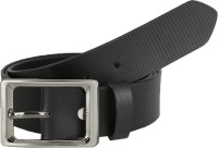Global Leather Boys, Men, Girls, Women Formal, Casual, Party, Evening Black Genuine Leather Belt Black